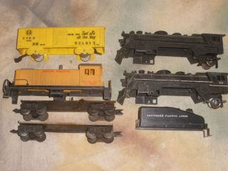 Marx Locomotive Frames Freight Car Frames for Parts