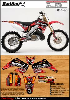2002 2004 Honda CRF 450 BadBoy Motocross Graphics Dirt Bike Graphics Deco Sweet