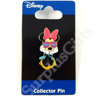 Disney Minnie Mouse with Sun Glasses Lapel Pin