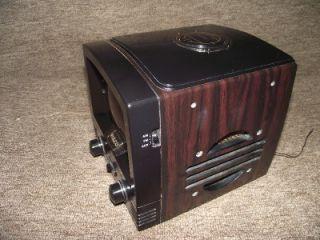 Vintage Philco TV Shape Alarm Clock Radio Working SN 1219