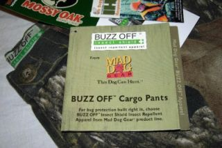 Mens Mad Dog Buzz Off Camouflage Cargo Pants 32 Waist x 28 Inseam New with Tag