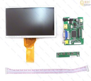 "HDMI VGA 2AV Reversing Driver Board 7"" AT070TN92 800x480 50 Pin LCD Display"
