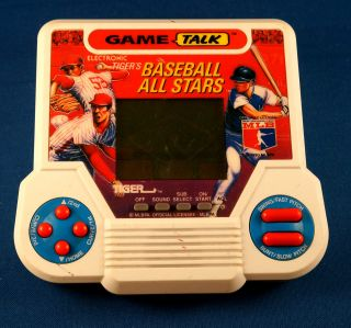 1990s Baseball All Stars Tiger Electronic Handheld Video LCD Game Arcade Vintage
