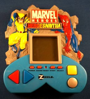 Marvel Heroes Villians Electronic Handheld Video LCD Toy Game Zizzle Comic Book