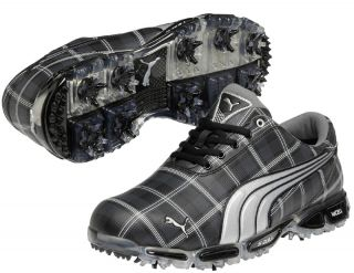 Puma Super Cell Fusion Ice Le Golf Shoes Plaid Black Rickey Fowler New