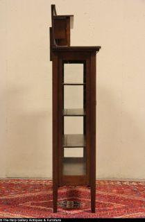 Arts Crafts Mission Oak 1910 Antique Sheboygan China Cabinet or Bookcase