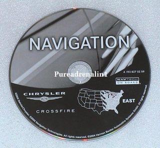 2006 Chrysler Crossfire Navigation Map CD Set East West