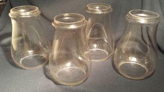 """Kerosene Lantern Oil Lamp Globes Matching Set of 4 Clear 6 5 8"""""""