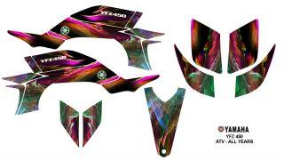 Yamaha YFZ450 ATV Quad Graphics Decal Sticker Kit 3001