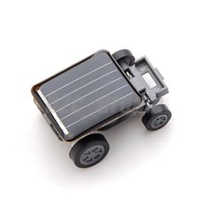 New Smallest Mini Solar Powered Robot Racing Car Toy Gadget for Kids B