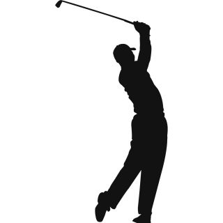 Tiger Woods Golf Sihouette Wall Decal Wall Art Stickers Transfers