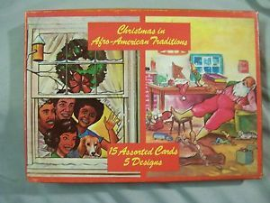 Black Americana Christmas Greeting Cards Afro American Traditions Rousana Cards