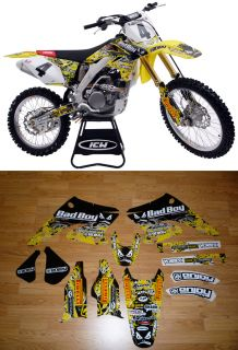2004 2006 Suzuki RMZ 250 BadBoy Motocross Graphics Dirt Bike Graphics Kit