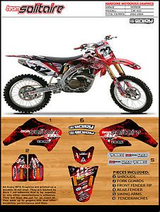 2002 2004 Honda CRF 450 Solitaire Motocross Graphics Dirt Bike Graphics Deco