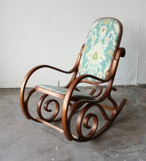 Beautiful Antique Mid Century Authentic Thonet Bentwood Rocking Chair