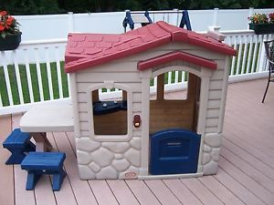 little tikes picnic on the patio playhouse kids outdoor toy play house - Little Tikes Picnic On The Patio Playhouse