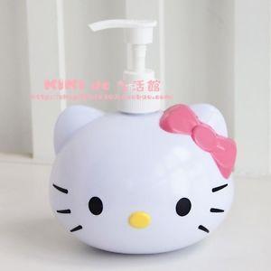 Cute Hello Kitty Hand Sanitizer Bottle Bath Shower Gel Bottle Lotion Bottle Poin