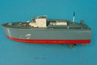 "PT109 Wood PT Boat Battery Operated Pond SHIP 14"" Long Assembled Kit Kids Toy"