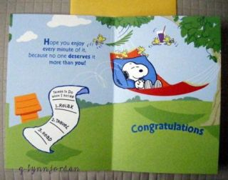 Snoopy Retirement Greeting Card