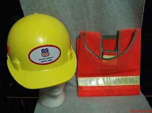 Union Pacific Railroad Safety Hard Hat Train Industrial ANSI ASC Tool Vest