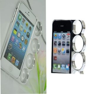 Fashionable Rings Brass Knuckles Hard Bumper Side Cover Case for iPhone4 4S