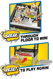 WWE Rumblers Blastin Breakdown Playset Ring w John Cena Alberto Del Rio New