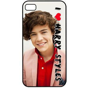 One Direction 1D I Love Harry Styles iPhone 4 4S Back Hard Case Cover