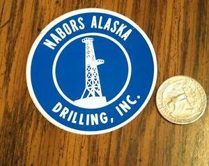 Nabors Alaska Drilling Oil Gas Oilfield Hard Hat Sticker Decal