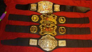 WWE Jakks Mattel Wrestling Foam Championship Belts Lot Tag Team Kids Size WWF
