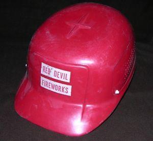 Vintage Red Devil Fireworks Glengard Bump Cap Glendale Optical Hard Hat USA