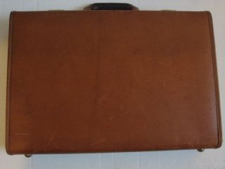 Coach Mens Hard Sided Brown Leather Briefcase Attache Case