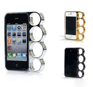 Lord of The Rings Brass Knuckles Hard Bumper Side Rim Cover Case for iPhone 4 4S