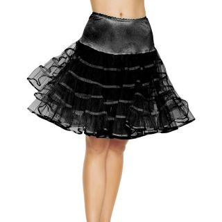 Petticoat Adult Burlesque Petticoat Saloon Girl Saloon Black