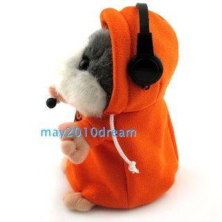 Cute Electronic Talking Plush Hamster Toy Scholars Speak Recording Toy Gift New