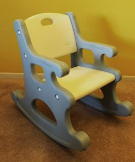 ... Vintage Little Tikes Blue Rocking Chair For Toddlers Victorian Chair  Pick Up ...