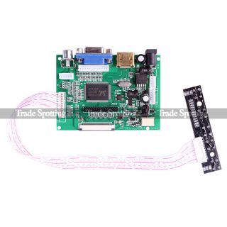 7 inch TFT LCD Monitor for Raspberry Pi Touch Screen Driver Board HDMI VGA 2AV