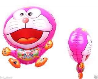 Red Doraemon Modelling Light Membrane Helium Hydrogen Foil Balloon Holidays QQ8