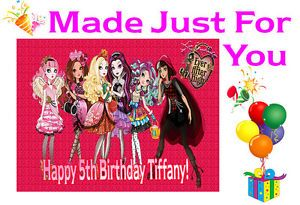 Ever After High Cake Topper Decoration Image Birthday Party Cupcake Toppers Blue