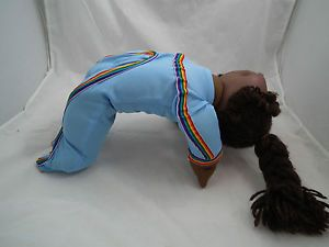 Factory IJ Cabbage Patch Kids Doll Outfit Only Blue Gymnastic Body Suit Poseable