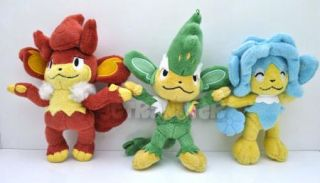 6 5'' New Pokemon Simisear Simisage Simipour 3pc Plush Toy Doll PC1743