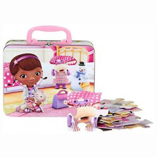 Disney 24pc Doc McStuffins Puzzle in Storage Tin Lunch Box Gift Bag New