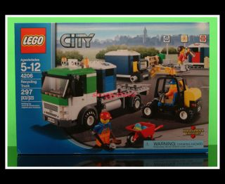 Lego City 4206 Recycling Trash Truck Fork Lift New SEALED Set Priority SHIP