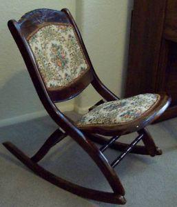 Antique Platform Rocking Chair On Popscreen