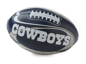 "NFL Dallas Cowboys Vinyl Soft Squeeze Football Toy Plush Softee Kid Ball 8"" Toss"