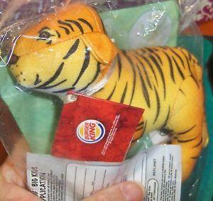 Burger King BK Kids Meal Toy Endangered Species Tiger Plush 2003