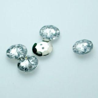 100pcs Wholesale Lot Dress Shirt Faux Crystal Rhinestone Diamante Button Round
