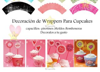 Cupcake Wrappers Plantillas Imprimibles Editable