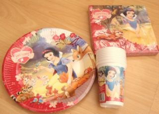 Snow White Disney Party for 10 Children Plate Cup Nap
