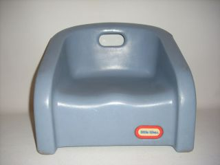 Vintage Little Tikes Blue Toddler Booster Chair w Carry Handle USA