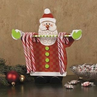 Santa Claus Candy Cane Holder Display Christmas Holiday Table Decorations Rack